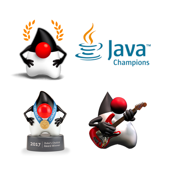 Java Champion, Dukes Choice Award Winner, JavaOne Rockstar